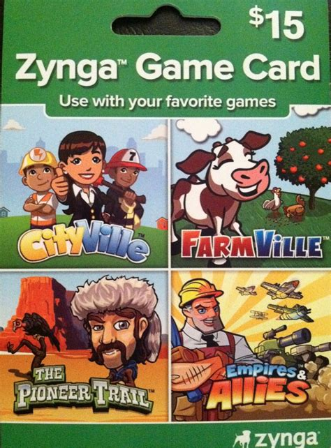 Farmville Gift Cards - zynga card