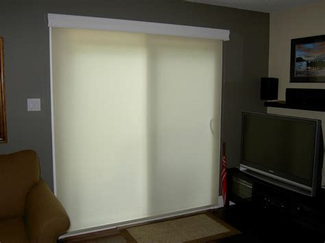 Roller Shades For Sliding Patio Doors Patio Door Roller Shades Window Treatments Design Ideas