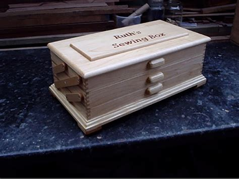 ash sewing box woodworking blog  plans