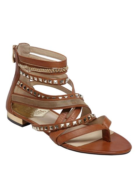 vince sandals vince camuto havkina sandals in brown lyst