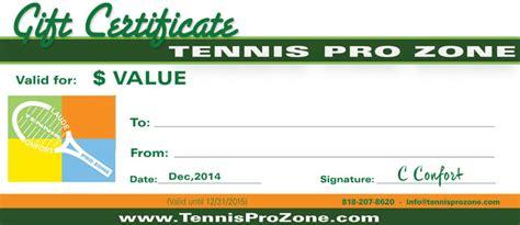 tennis pro zone gift certificates tennis pro zone academy