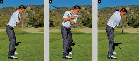 start golf swing with right shoulder body drive golf tips magazine