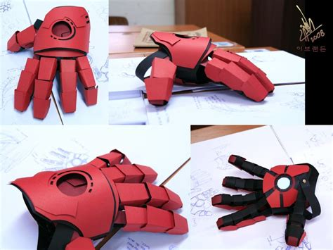 How To Make A Paper Iron Glove - iron gauntlet by omaiyee on deviantart