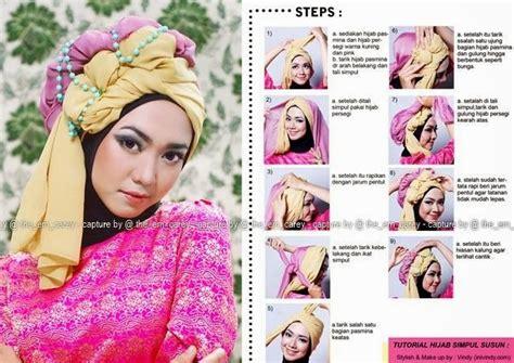 Gambar Tutorial Hijab Wisuda 2015 | tutorial hijab untuk kebaya modern terbaru cantik menawan