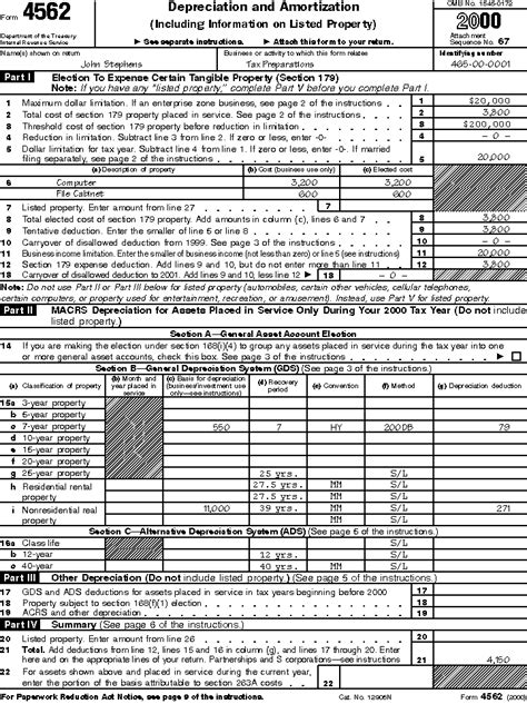 Form 4562 Worksheet by Publication 587 Business Use Of Your Home Schedule C Exle