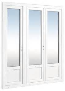 porte fen 234 tre blanche en pvc 215x180 cm brico d 233 p 244 t