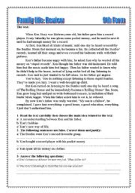 Subject Verb Agreement Worksheets 9th Grade by Exercises For 9th Grade Englishlinx Similes