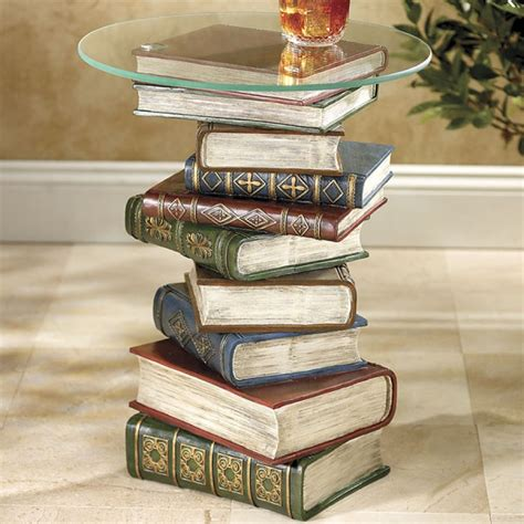 stacked books end table stacked books table products i