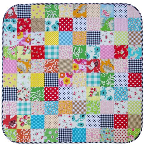 Patchwork Coverlet - modern patchwork baby and toddler quilt