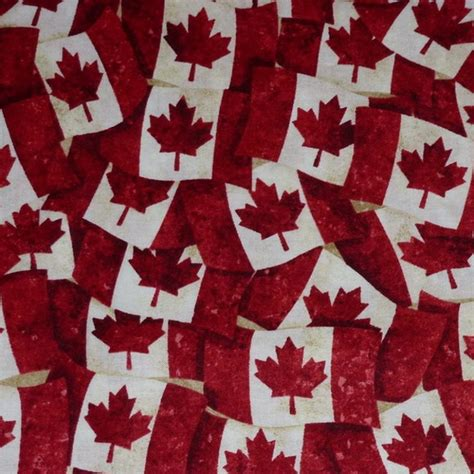 Fabric Canada canadian flag cotton fabrics etc
