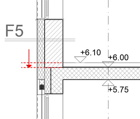 modeling of floating floor screed edge detail in archicad