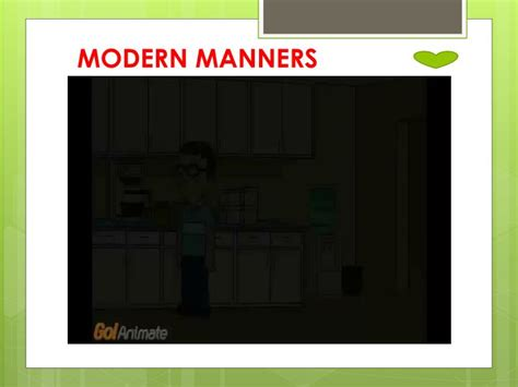 Modern Manners ppt modern manners pictures questions reading