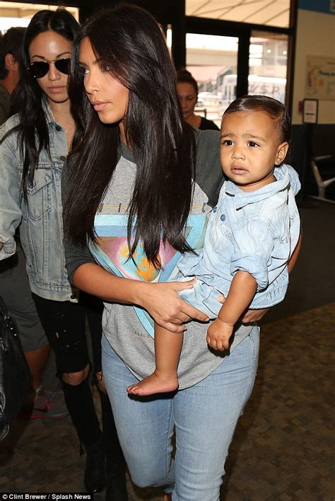 haircut styles for 4 month old kim kardashian gives her daughter a slick hairstyle as
