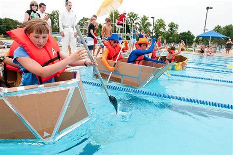 cardboard boat online cardboard boat regatta saturday fun for all dekalb