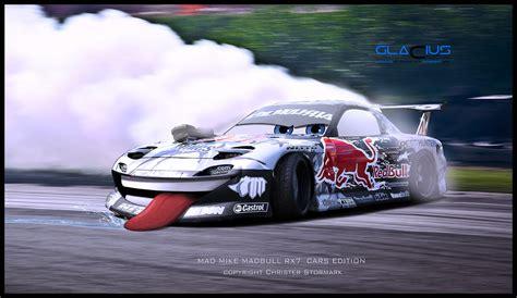 rx7 drift drifting madmike rx7 26b 4 rotor madbul redbull in car footage
