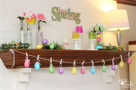 Easter Fireplace Decorations by Easter Mantel