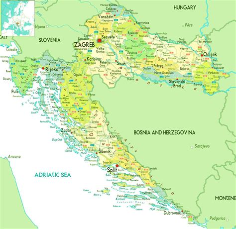 Croatia Search Map Of Croatia Republic Of Croatia Maps Mapsof Net