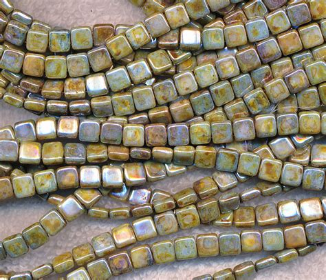 bead tile 2 square czechmates glass tile opaque
