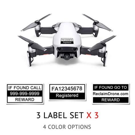 dji mavic air drone labels  sets faa registration