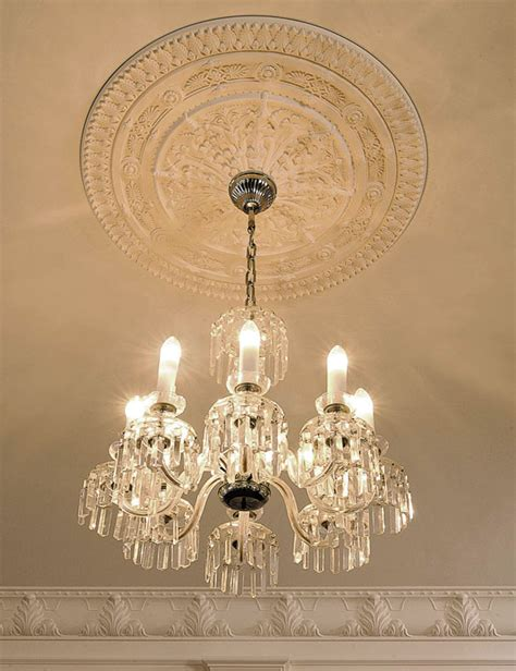 ceiling decor with crown molding ceiling medallion and