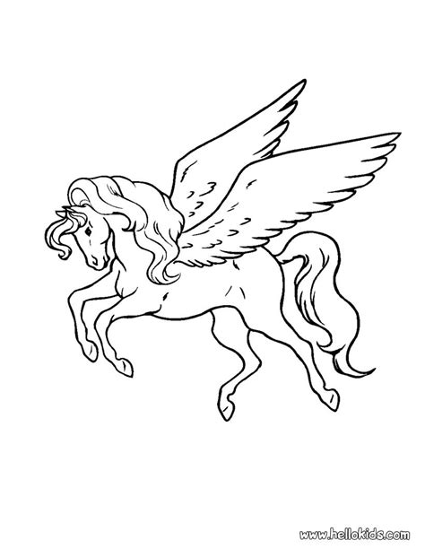 Pegasus Printable Coloring Pages Pegasus Coloring Pages