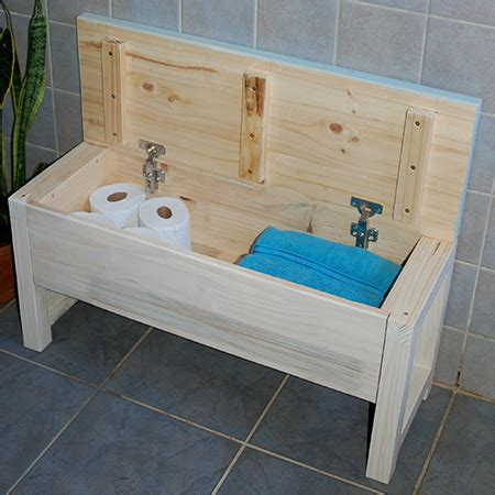 bathroom storage bench home dzine home diy bathroom storage bench