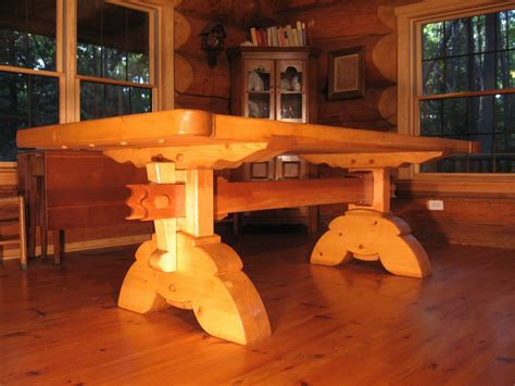 Custom Made Heavy Timber Dining Table by TimberrWorks