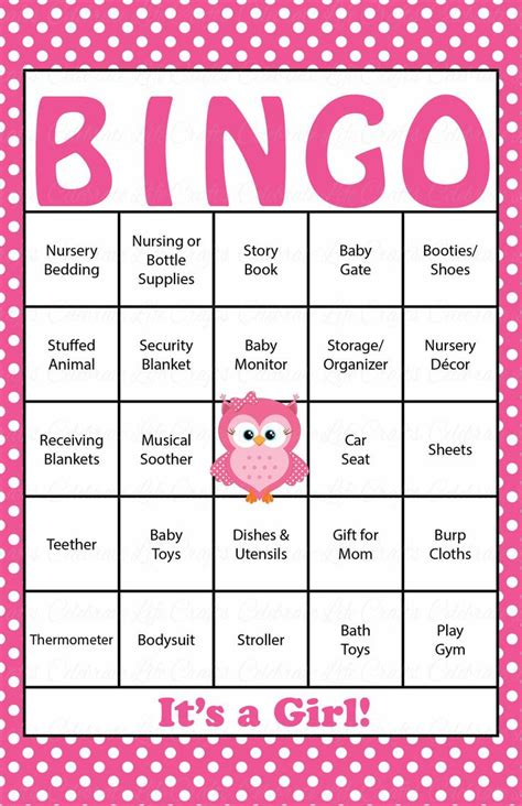 Bingo Baby Shower Cards by 33 Best Owl Baby Shower Images On Barn Owls