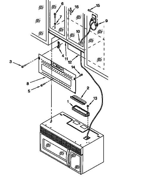 kitchenaid microwave parts diagram installation diagram parts list for model khms105bbl4