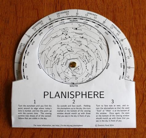 printable star finder make your own planisphere in the sky org