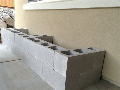 concrete block bench hello daly mini patio project cinder block bench