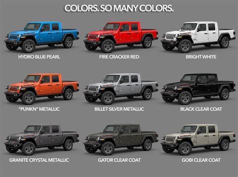 2020 Jeep Gladiator Color Options by 2020 Jeep Gladiator It S Here
