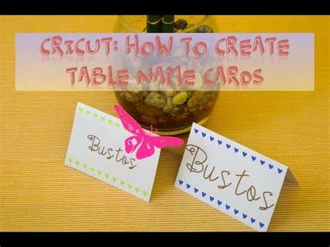 how to make name card cricut how to create table name card
