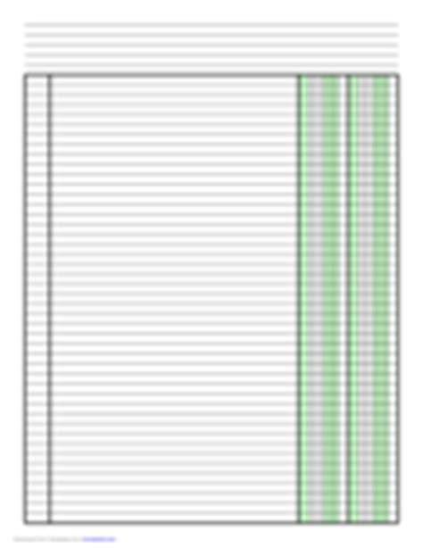 Columnar Pad Paper 63 Free Templates In Pdf Word Excel Download Columnar Pad Template For Excel