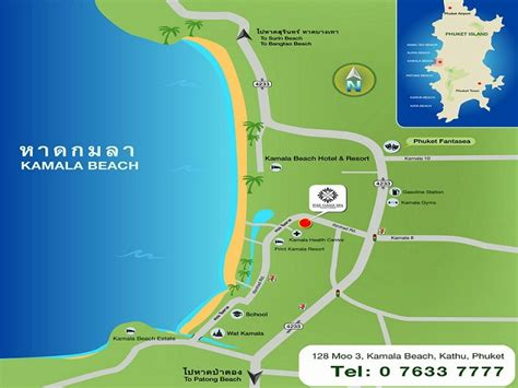 kamala resort map location map phuket oasis spa