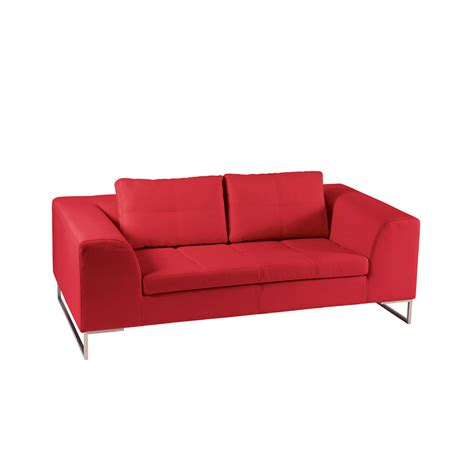 2 seater sofa red vienna leather two seater sofa red dwell