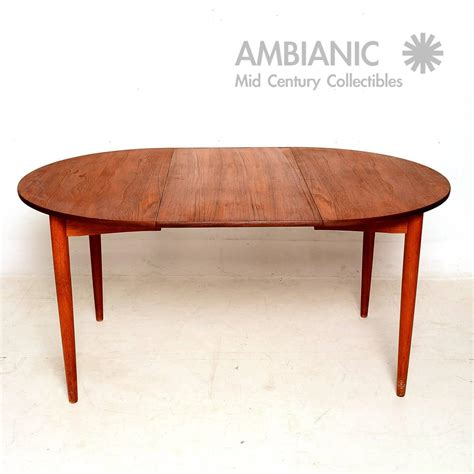 Oval Dining Tables For 6 Modern Teak Oval Dining Table For Sale At 1stdibs