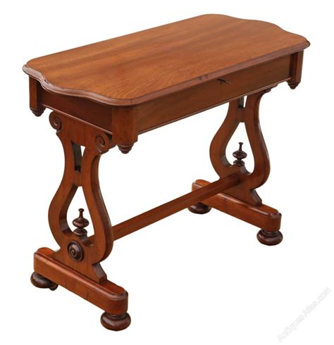 Antique Library Table Desk by Mahogany Writing Desk Library Table Antiques Atlas