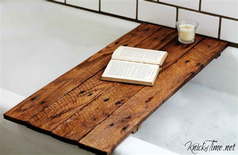 Diy Wood Bathtub by Diy Spa Tub Caddies Decorating Your Small Space