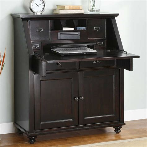 Painted Computer Armoire Wood Secretary Desk Office Furniture