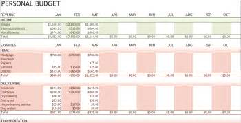 Excel Template Personal Budget Expense Tracking Template Tracking Expenses