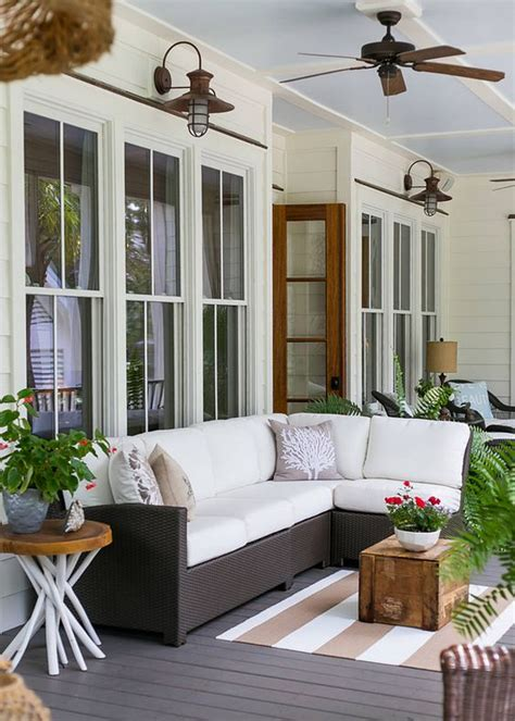 modern porch furniture 27 screened and roofed back porch decor ideas shelterness