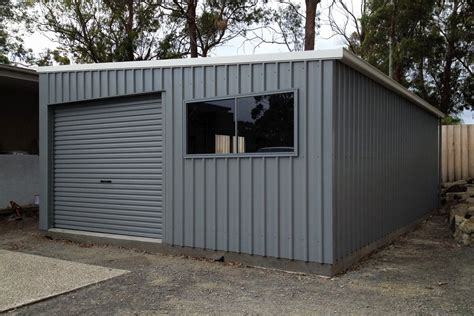 skillion roof sheds  garages ranbuild