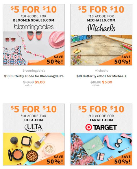 Ulta E Gift Card - save 50 on e gift cards for popular stores macy s ulta target more ftm