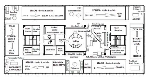University Library Floor Plan by Sulair Branner Library And Map Collections Floor Plans