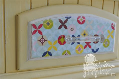 Decoupage Drawer Fronts - how to decoupage drawer fronts vintage charm restored