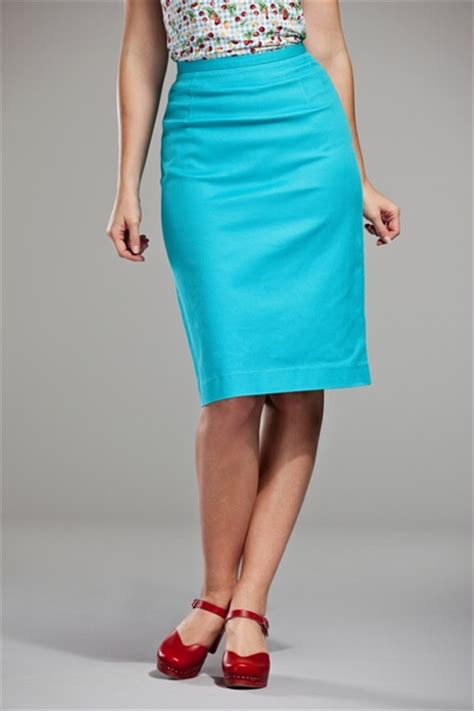 emmydesign pretty pencil skirt turquoise waffled