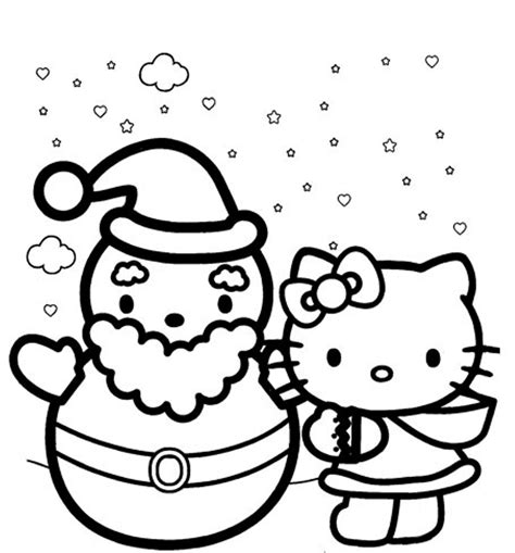 coloring pages more images hello kitty 12 winter coloring pages coloringsuite com