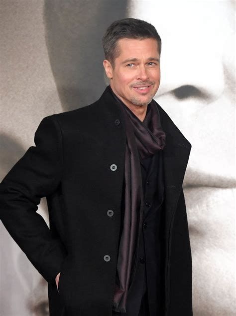 Brad Pitt Looking Lean And Stylish At The Uk Allied Premiere Brad Pitt