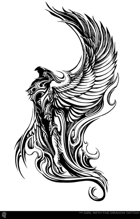 tattoo phoenix miami ink gargoyle winged beast hybrid animal tattoo stencil